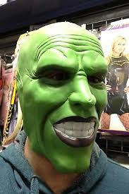 the mask green latex mask jim carrey costume fancy dress halloween