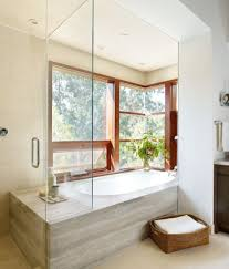 shower in front of window exterior traditional with window trim