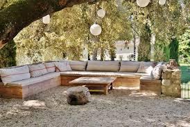 canapé d angle avec banc banquette d 39 ext rieur en palox avec coussin d 39 assise et