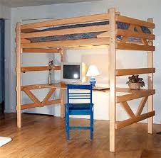 wooden loft bunk bed with desk the modern wood loft bed with desk underneath for household designs