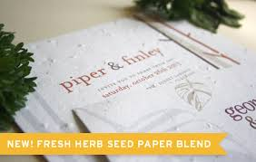 plantable seed paper new herb seed paper option for plantable wedding invitations and