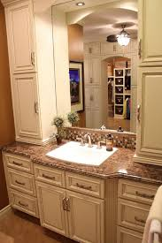 How To Paint Bathroom Cabinets Dark Brown Small Bathroom Design And Decoration Using White Ivory Wood