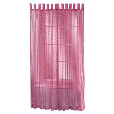 Purple Polka Dot Curtain Panels by Shop Style Selections Icicle 84 In Raspberry Polyester Top Tab