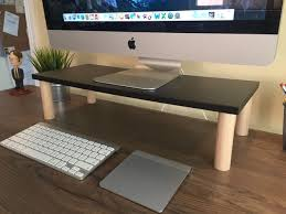 Build A Wood Desk Top by 9 Diy Computer Monitor Riser Stand Monitor Desks And Organizations