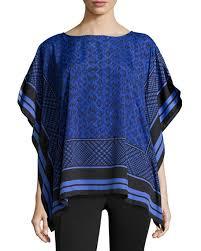 michael kors blouses michael michael kors scarf print caftan blouse amparo blue