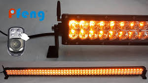 orange led light bar new amber white strobe led light bar youtube