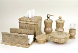 buy sahara beige marble 7 piece bathroom accessories set