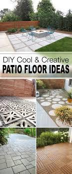Backyard Floor Ideas 9 Diy Cool Creative Patio Flooring Ideas Patios Tutorials And