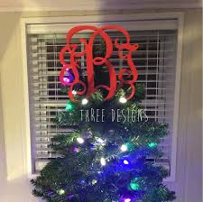 monogram tree topper tree toppers d three designs