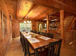 Log Dining Room Table by Mountain U0027s Largest Log Retreat 7 Bedrooms Vrbo