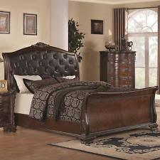 California King Sleigh Bed Cherry Sleigh Beds Ebay