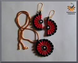 quilling earrings set quilled jewelery set tutorial kalanirmitee creations