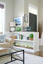 entryway bookcase finished half wall bookcase open best creating an entryway ideas on