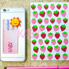 online shop strawberry fruit bubble sponge stickers high quality
