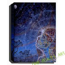 trippy alex grey canvas prints brain sky painting wall poster