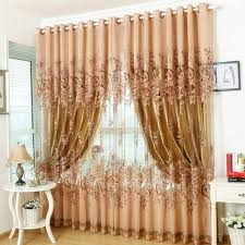 curtains for livingroom amazon com edal romantic modern floral peony tulle living room