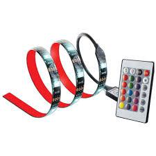 best buy led light strips cj tech 6 ft led light strip with 24 key remote multi colour