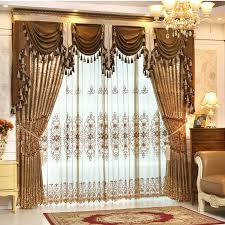Valance Curtains For Living Room Aliexpress Com Buy Helen Curtain Luxury Gold Embroidered