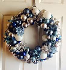 how to make a frozen inspired ornament wreath hometalk