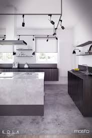 Kitchen With An Island Visualization Of An Eclectic Style Kitchen Freelancers 3d