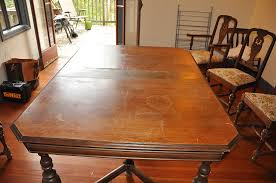 Dining Table Without Chairs Refinishing Dining Table Without Sanding Wooden Refinishing