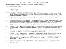 worksheet combined gas law answer key u2013 worksheets aquatechnics