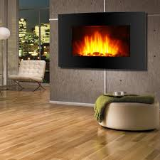 wall mount 36 u2033 electric fireplace firebox heater led backlit flame