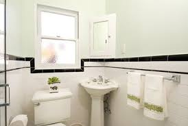 1930 bathroom design renovation 1930 s bathroom with white subway tile and black