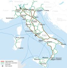 Train Map Of Italy by Italia Rail Map