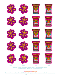 party planning center free printable luau cocktail picks party