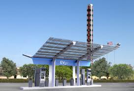 1st non tesla high power ev charging station in usa thanks evgo