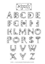 Decorative Styles Decorative Alphabets For Illustrated Lettering Styles Alphabet