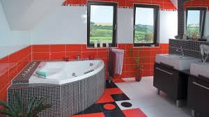 engaging red and black bathroom ideas colors tags rednd white
