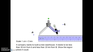 gcse maths locus loci questions youtube