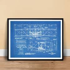 amazon com wright flyer first airplane 1903 blueprint art 18x24