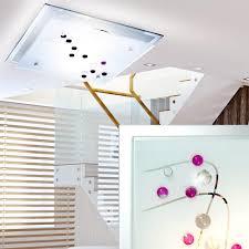 Wohnzimmer Deckenlampe Deckenleuchte Metall Glas Wohnzimmer Deckenlampe Dekorsteine Bunt