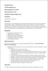 entry level resume templates entry level human resources resume resume templates