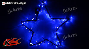 Christmas Decorations Light Blue by How To Make Garden Star Led Light Christmas Decorations Jk Arts