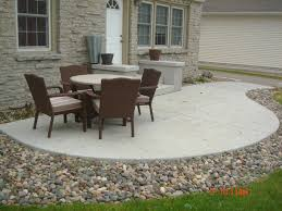 Backyard Cement Ideas Magnificent Backyard Concrete Patio About Home Decor Ideas With