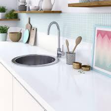 plan de travail cuisine blanc plan de travail stratifié blanc brillant l 315 x p 65 cm ep 38 mm