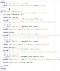 membuat form input menggunakan html membuat form pendaftaran dengan css programming adalah seni berlogika