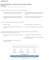 quiz u0026 worksheet history u0026 controversy of gene therapy study com