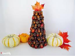 how to make an acorn autumn tree centerpiece homejelly