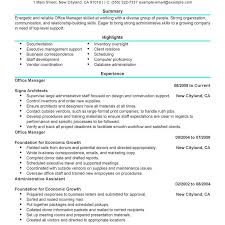 sle resume for medical office administration manager job office resume exles awesome front coordinator assistant cv