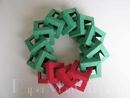 origami decorations origami wreath