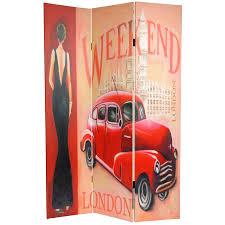 antique room divider 6 ft tall vintage weekend canvas room divider london
