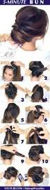 hair tutorial easy romantic bun hairstyle elegant twisted bun