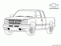 coloring page truck jeep