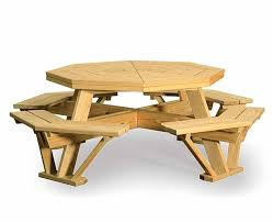Poly Picnic Tables by Lovable Octogon Picnic Table And Octagon Picnic Table Barco