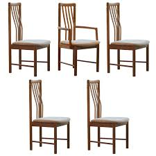 post modern home set of 5 benny linden teak dining chairs